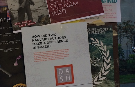 Open Access posters in Harvard Yard